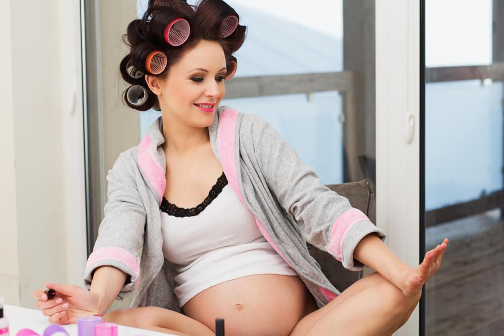 obstetras permitem alguns cuidados com o cabelo