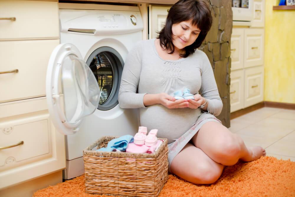 limpar roupas da maternidade