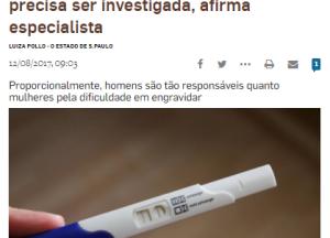 Infertilidade masculina ainda é tabu e precisa ser investigada, afirma especialista