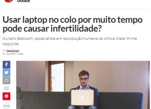 Usar laptop no colo por muito tempo pode causar infertilidade